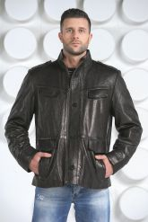 "Мужская кожаная куртка в стиле ""милитари"". Фото 3."