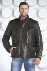 "Мужская кожаная куртка в стиле ""милитари"". Фото 4."