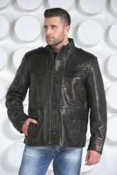 "Мужская кожаная куртка в стиле ""милитари"". Фото 5."