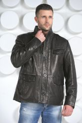 "Мужская кожаная куртка в стиле ""милитари"". Фото 7."