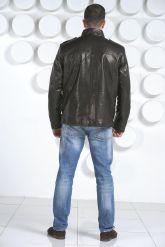 "Мужская кожаная куртка в стиле ""милитари"". Фото 8."