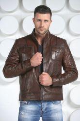 Стильная кожаная куртка. Фото 3.