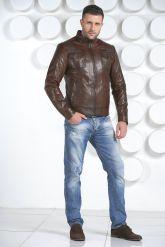 Мужская кожаная куртка. Фото 1.