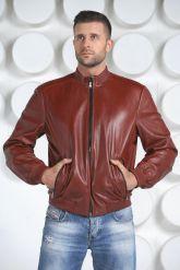 Мужская кожаная куртка на резинке. Фото 2.
