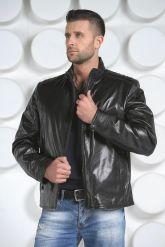 Короткая мужская кожаная куртка. Фото 3.