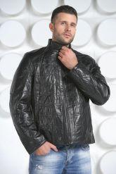 Стеганная кожаная куртка. Фото 2.
