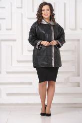 Удлиненная кожаная куртка Мелисса. Фото 1.
