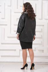 Удлиненная кожаная куртка Мелисса. Фото 2.