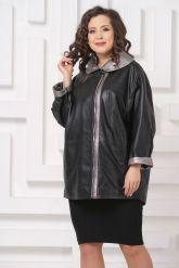 Удлиненная кожаная куртка Мелисса. Фото 3.