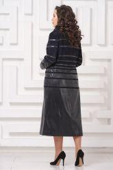 Элегантное кожаное пальто. Фото 2.