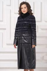 Элегантное кожаное пальто. Фото 3.