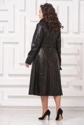 Длинное кожаное пальто FS. Фото 2.