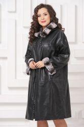 Двустороннее кожаное пальто. Фото 4.