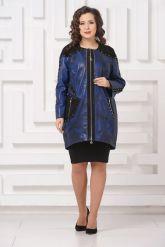 Модное кожаное пальто со съемным мехом. Фото 4.