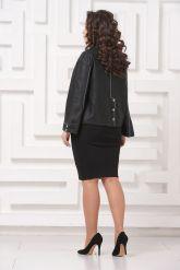Женская кожаная куртка с отстрочкой. Фото 2.