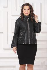 Женская кожаная куртка с отстрочкой. Фото 3.
