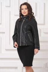 Женская кожаная куртка с отстрочкой. Фото 4.