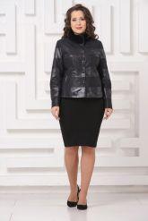 Комбинированная кожаная куртка Fashion Star. Фото 1.