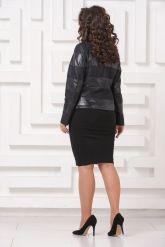 Комбинированная кожаная куртка Fashion Star. Фото 2.
