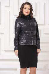 Комбинированная кожаная куртка Fashion Star. Фото 4.