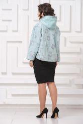 Комбинированная кожаная куртка с принтом. Фото 2.