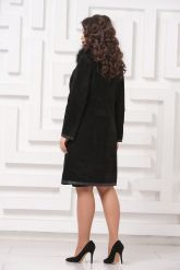 Необычное пальто из замши. Фото 2.
