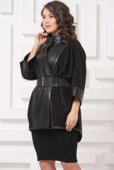 Комбинированная кожаная куртка LW. Фото 3.