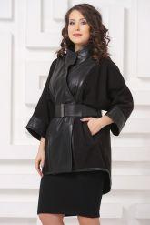 Комбинированная кожаная куртка LW. Фото 4.