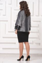 Комбинированная женская куртка из замши. Фото 2.