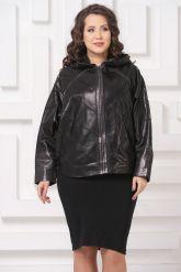 Кожаная куртка летучая мышь черного цвета. Фото 3.