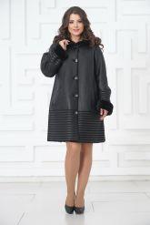 Женское пальто из овчины. Фото 1.