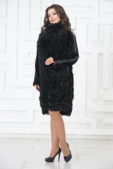 Стильное пальто из меха тиградо. Фото 1.