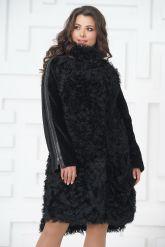 Стильное пальто из меха тиградо. Фото 2.