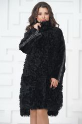 Стильное пальто из меха тиградо. Фото 3.
