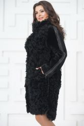 Стильное пальто из меха тиградо. Фото 4.