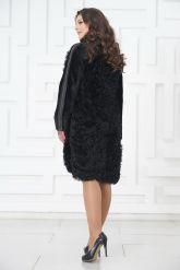 Стильное пальто из меха тиградо. Фото 5.