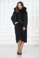 Роскошное пальто из меха овчины. Фото 1.