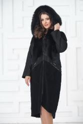 Роскошное пальто из меха овчины. Фото 5.