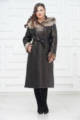 Зимнее пальто из овчины больших размеров. Фото 1.