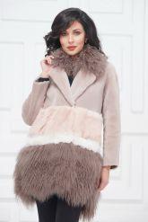Итальянское пальто из овчины и ламы. Фото 2.