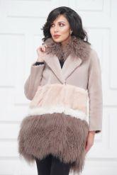 Итальянское пальто из овчины и ламы. Фото 3.