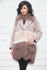 Итальянское пальто из овчины и ламы. Фото 6.