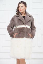 Итальянское пальто из овчины и ламы PUNTO. Фото 3.