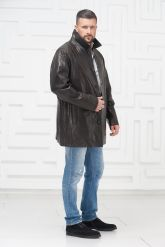 Мужская кожаная куртка больших размеров. Фото 1.