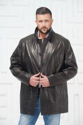 Мужская кожаная куртка больших размеров. Фото 2.
