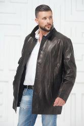 Мужская кожаная куртка больших размеров. Фото 3.