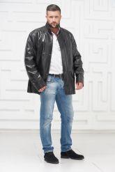 Удлиненная мужская кожаная куртка. Фото 1.