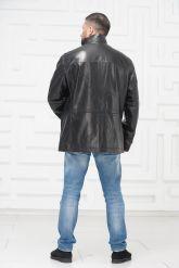 Удлиненная мужская кожаная куртка. Фото 4.