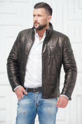 Утепленная мужская кожаная куртка. Фото 3.