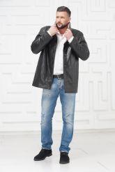 Мужская кожаная куртка на меху. Фото 1.